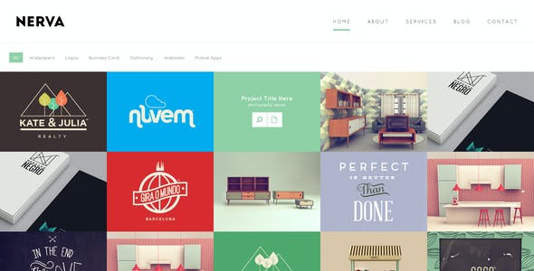 Nerva - Minimal Design HTML Template