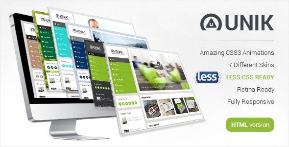 Unik - Ultimate HTML5 Template - Business Corporate
