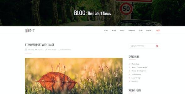 Rient   Multi-Purpose Parallax PSD Landing Page