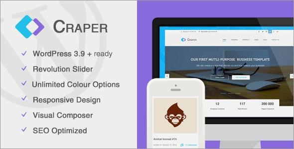 Craper - Responsive Business WordPress Theme - Creative WordPress