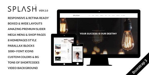 Splash - Multi-Purpose Bootstrap Website Template - Creative Site Templates