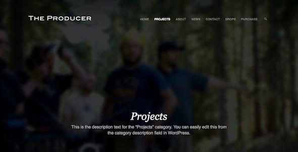 The Producer: Responsive Film Studio WP Theme