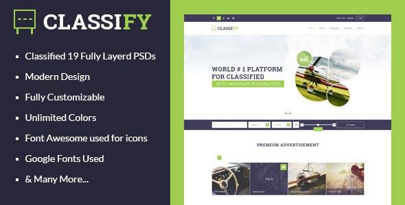 Classify - Classified Ads PSD Template