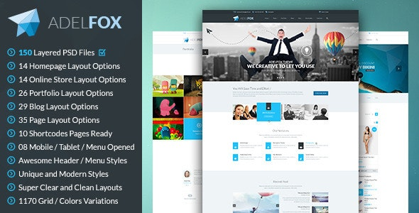 AdelFox | Multi-Purpose PSD Template - Business Corporate