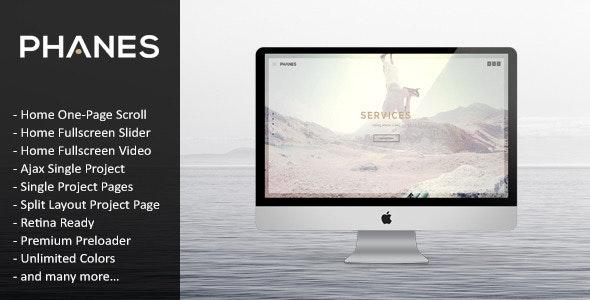 Phanes - Responsive Unique HTML5 Template - Creative Site Templates