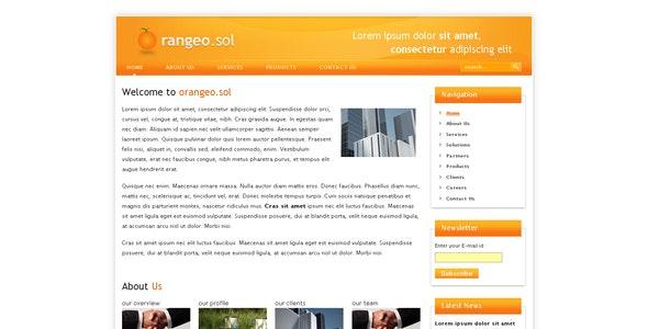 Orangeo.sol - Corporate Site Templates