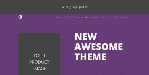 2Color - Customizable Landing Page