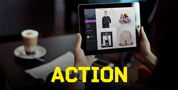 Action | PSD Template - Retail Photoshop