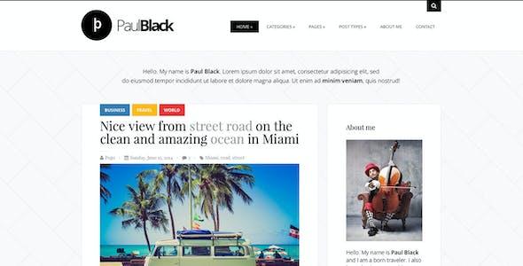 PaulBlack - Personal Blog WordPress Theme