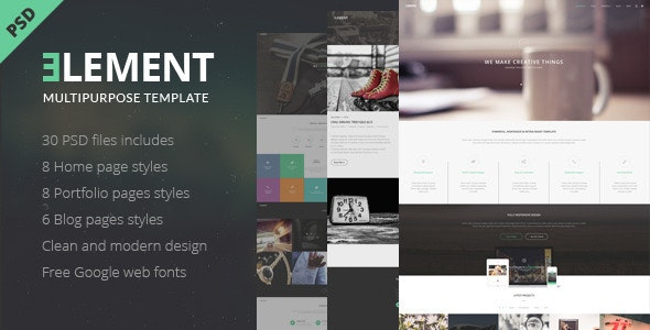 ELEMENT - Multipurpose PSD Template - Creative Photoshop