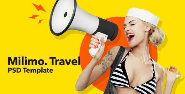 Milimo Travel - Onepage PSD Template