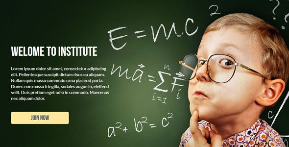 Institute - Muse Landing Page Template