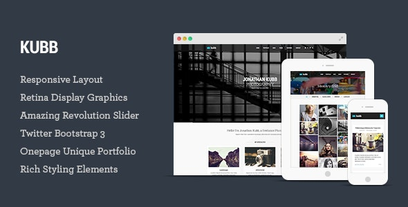 Kubb - Photography Template for Photographers - Photography Creative