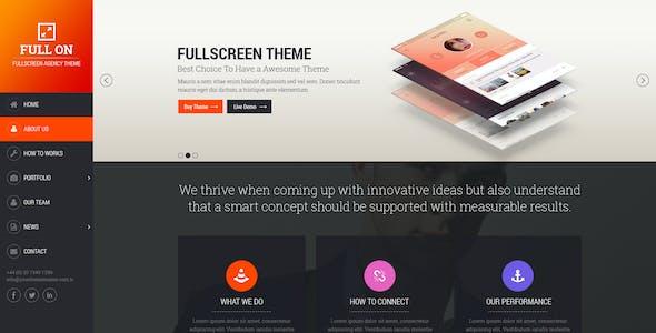 Full On - Fullscreen Creative Agency Theme