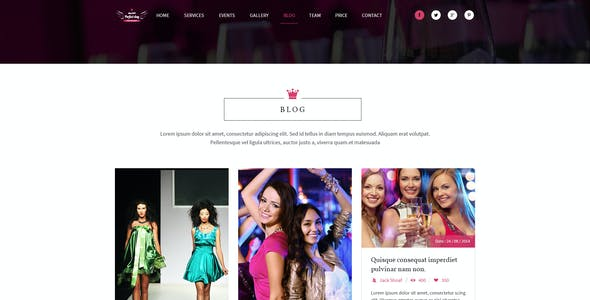 Event Management One Page PSD  - Perfect Day