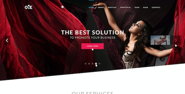 ONE- HTML Template