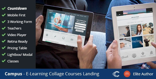 Campus Education eCourse Sign-up Landing - Marketing Corporate