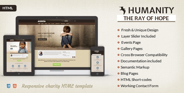 Humanity | Charity HTML5 Template - Charity Nonprofit