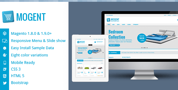 Mogent:  Mobile ready Magento template