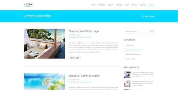 Vizerk   Multi-Purpose Parallax PSD Landing Page