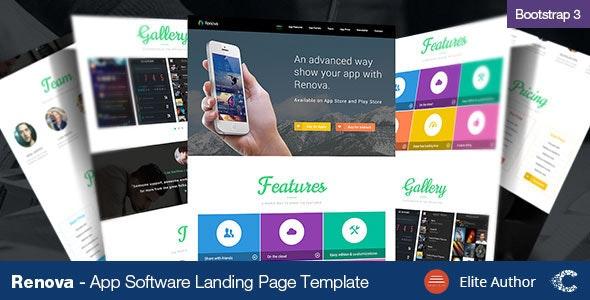 Renova - Startup App Landing Page Template - Computer Technology