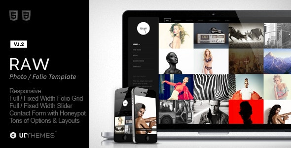 Raw - Responsive Photography HTML5 Template - Photography Creative