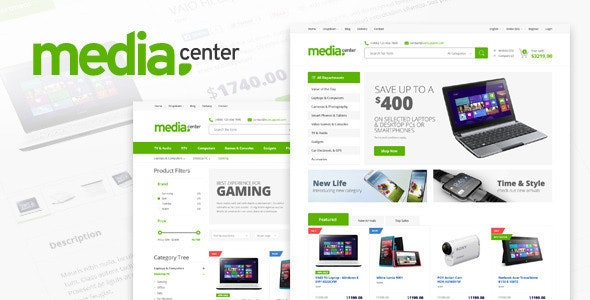 Media Center - Electronic eCommerce HTML Template - Shopping Retail