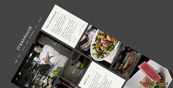 Steakhouse - Restaurant WordPress Theme