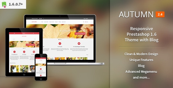 Autumn - Responsive Prestashop 1.6 Theme with Blog - Fashion PrestaShop