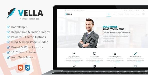 Vella - Premium Multipurpose Responsive Template - Business Corporate