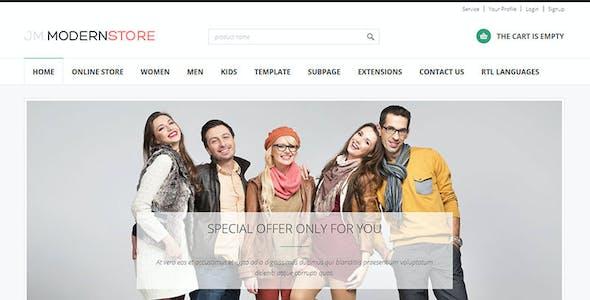 Modern Store - responsive eCommerce Joomla theme