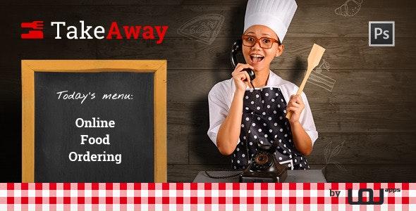 TakeAway - Online Food Ordering (PSD) - Restaurants & Cafes Entertainment