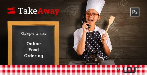 TakeAway - Online Food Ordering (PSD)