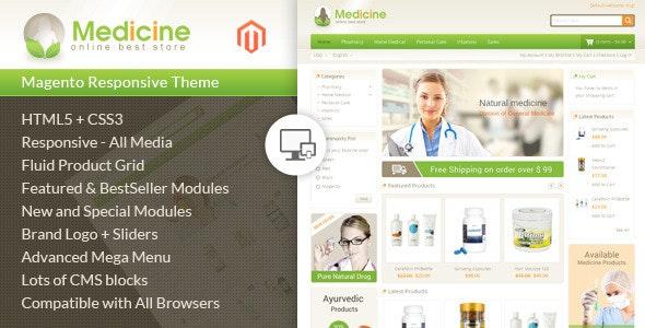Medicine - Responsive Magento Theme by TemplateMela | ThemeForest