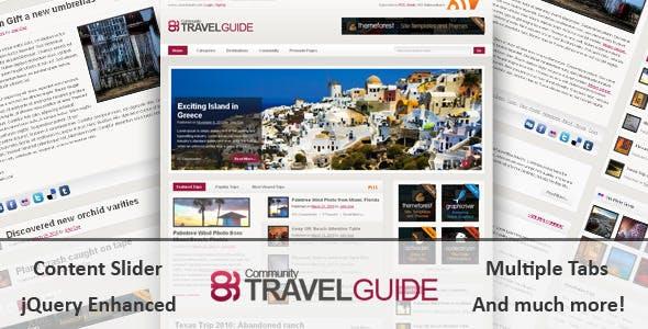 TravelGuide HTML Template