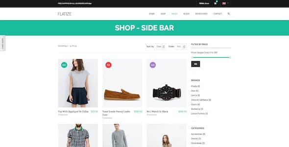 Flatize - Shopping & eCommerce Drupal Theme