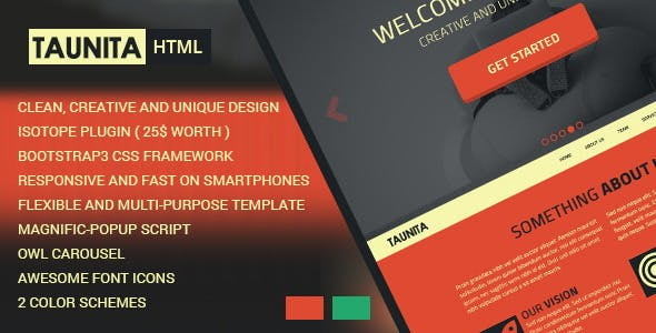 Taunita - Creative HTML5 Template