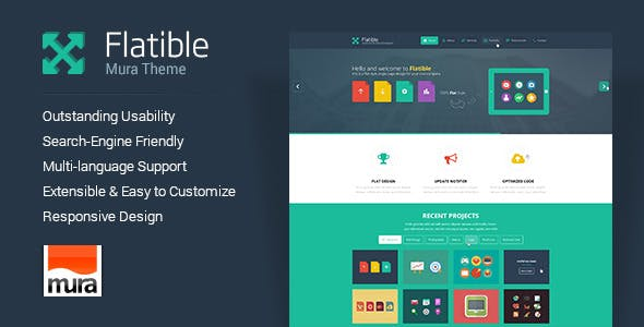 Download Flatible - Responsive Single Page Mura Theme