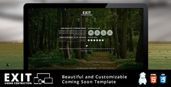 Exit - Responsive Under Construction Template - Under Construction Specialty Pages