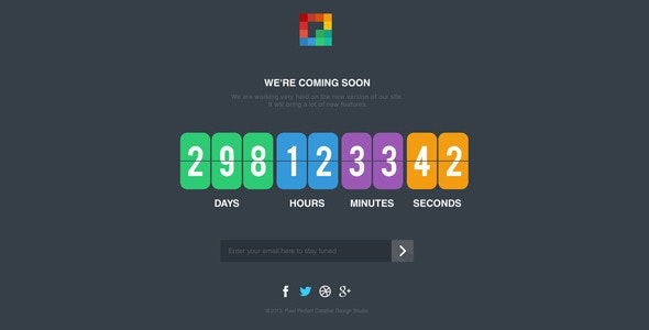 Pixp Countdown - Coming Soon Template - Under Construction Specialty Pages