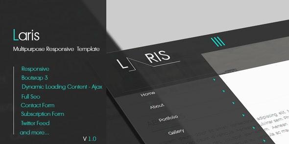 Laris - Multipurpose Responsive  Template - Portfolio Creative