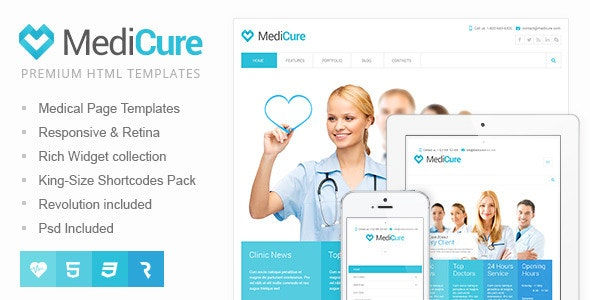 MediCure – Health & Medical HTML5 Template - Health & Beauty Retail