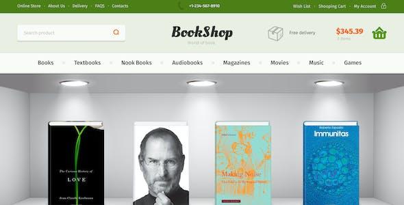 Bookshop | PSD Template