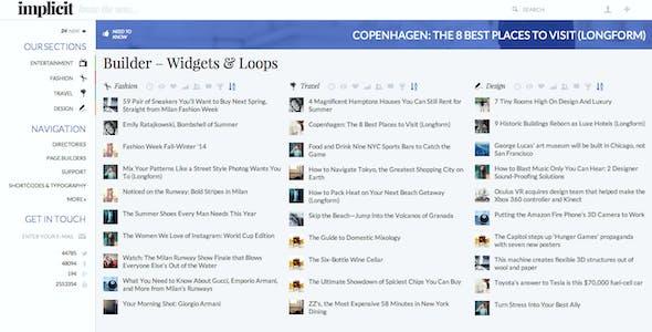 Implicit - Full-Screen Blazing-Fast Magazine Theme