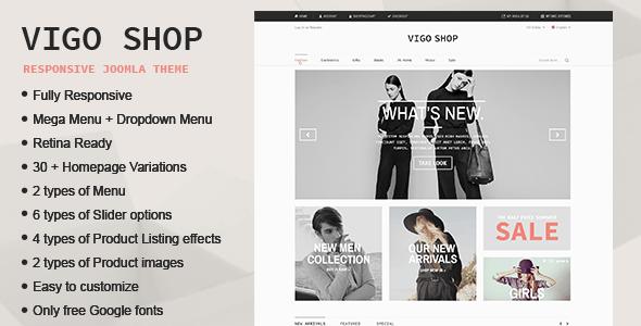 Vigo Shop - Responsive & Multipurpose Joomla Theme