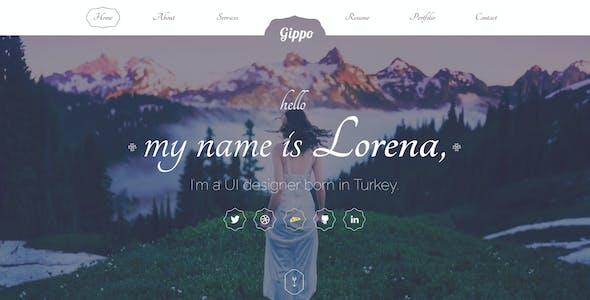 Gippo - Ladies Special Portfolio Template PSD