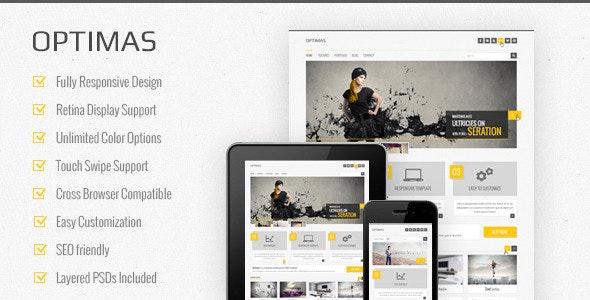 Optimas  - Responsive Multipurpose Template - Corporate Site Templates