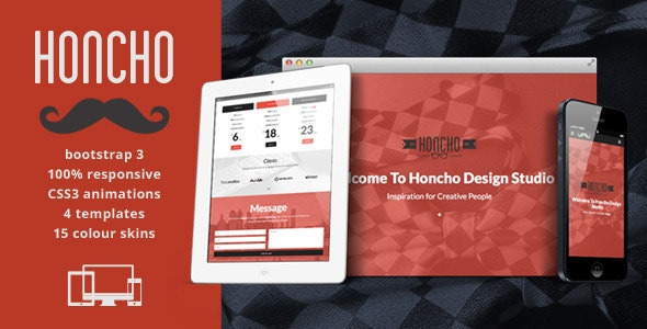 Honcho - One Page Responsive Html5 Template  - Portfolio Creative