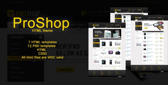 Pro Shop - HTML Theme