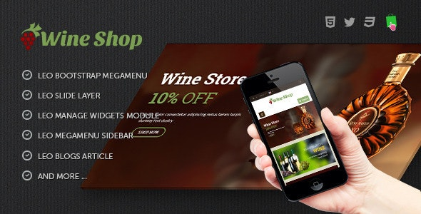 Leo Wine Store - Alcohol & Beverage PrestaShop 1.7.6.x Theme - Health & Beauty PrestaShop